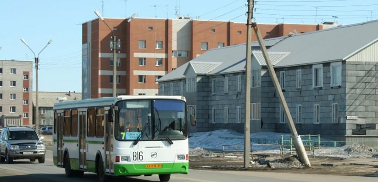 Автобус номер 7 довозит пассажиров до жд вокзала