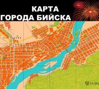 Карта города Бийска