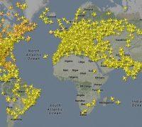 Отслеживание полетов повсему миру спомощью flayradar24.