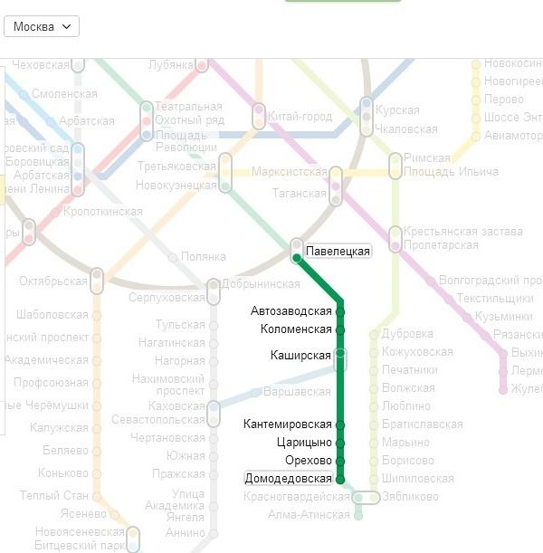 Схема проезда наметро