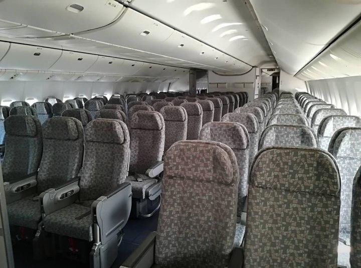 Эконом-класс Боинга 777-300ER в Северном Ветре
