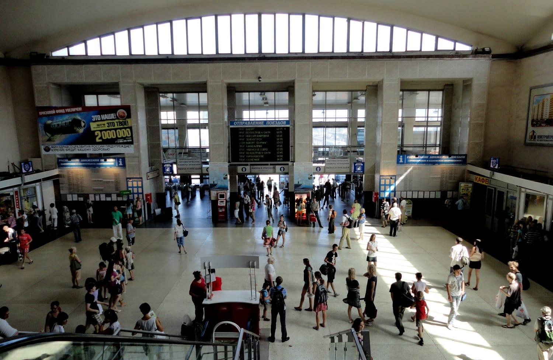 Финляндский вокзал изнутри
