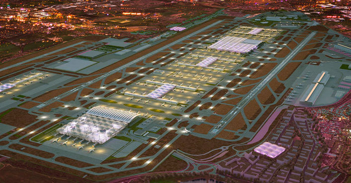 Общий вид аэропорта Хитроу
