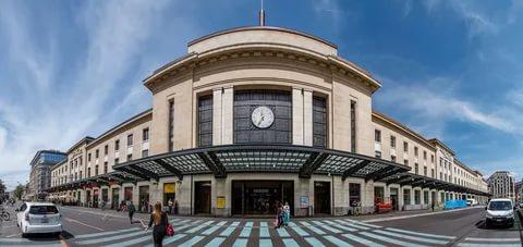 Вокзал в Женеве.