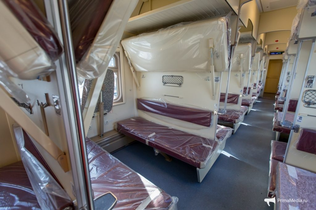 Размеры полок позволяют пассажирам удобно разместить вещи