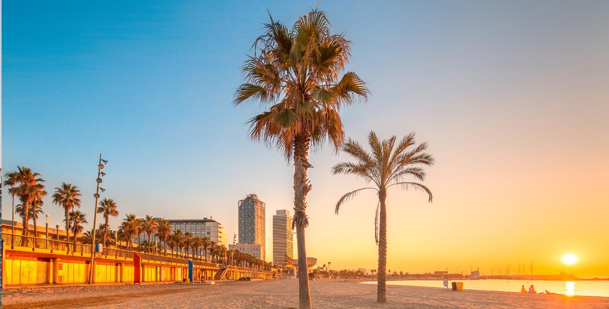 Пляжи Барселоны и окрестностей на карте фото и описание