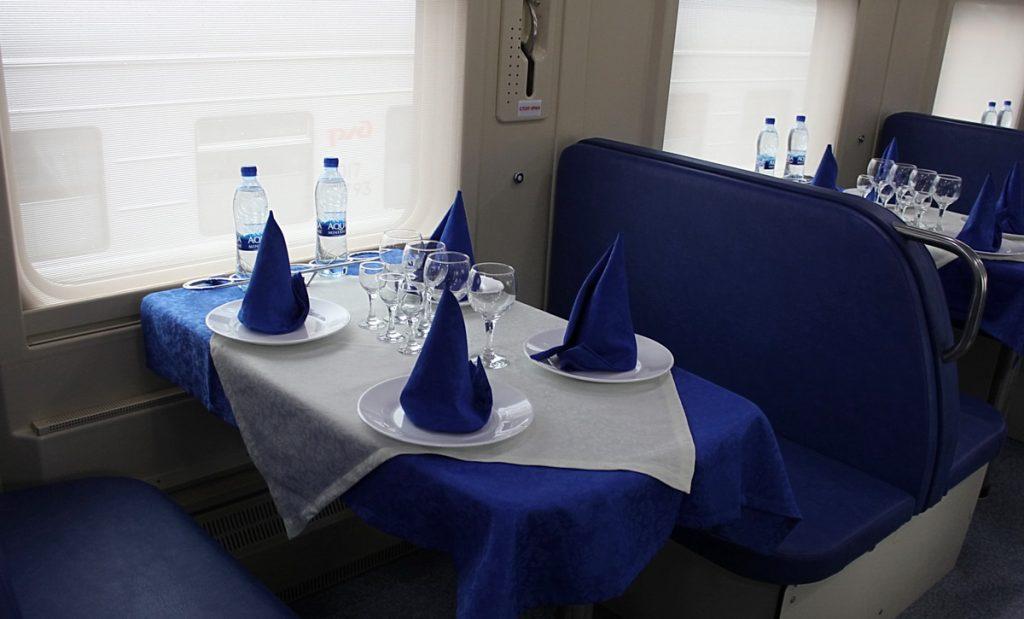 вагон-ресторан сервировка