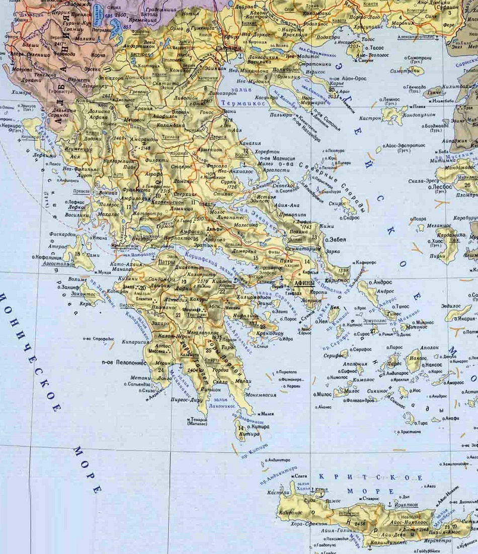 Картинки карта греции