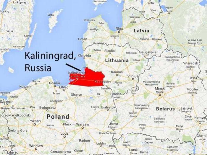 Карта Калининградской области с границами